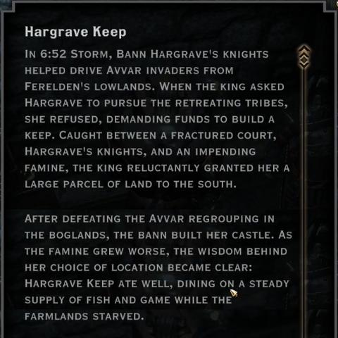 Hargrave Keep Codex Image