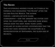 The Raven Landmark Text