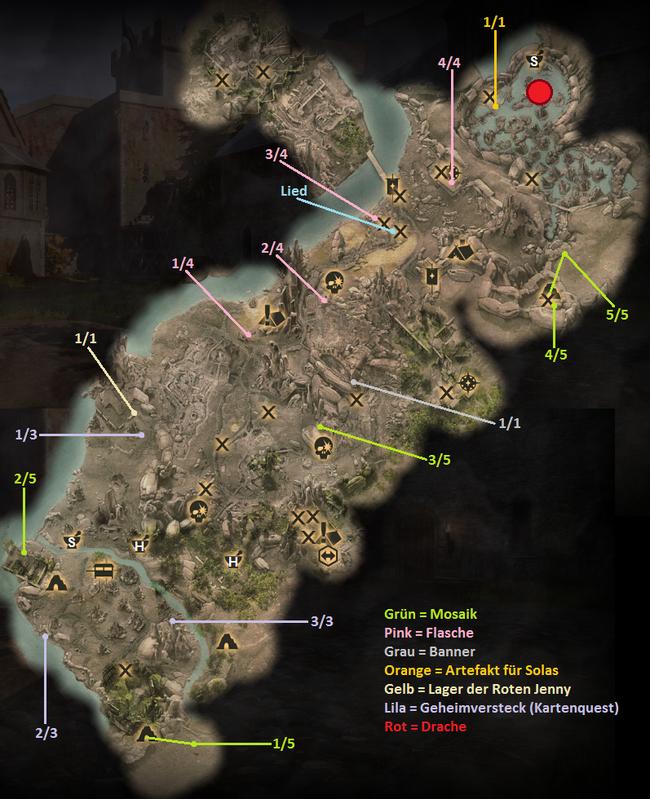 Die Erhabenen Ebenen - Karte