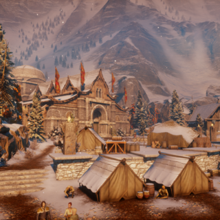 Inside the village of Haven in <a href=