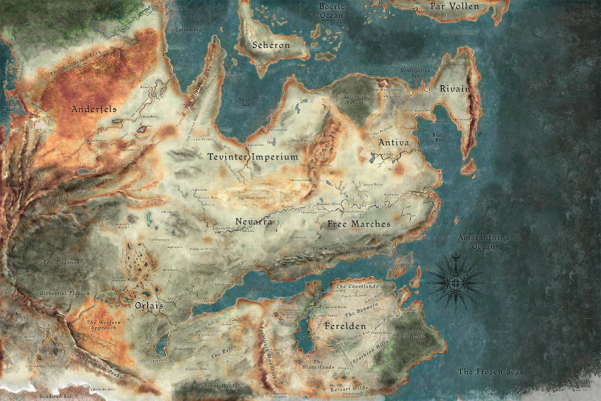 Dragon Age Map Thedas | Dragon Age Wiki | FANDOM powered by Wikia