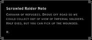 Scrawled Raider Note