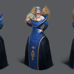 Artwork of Empress Celene's tier progression in <i><a href=