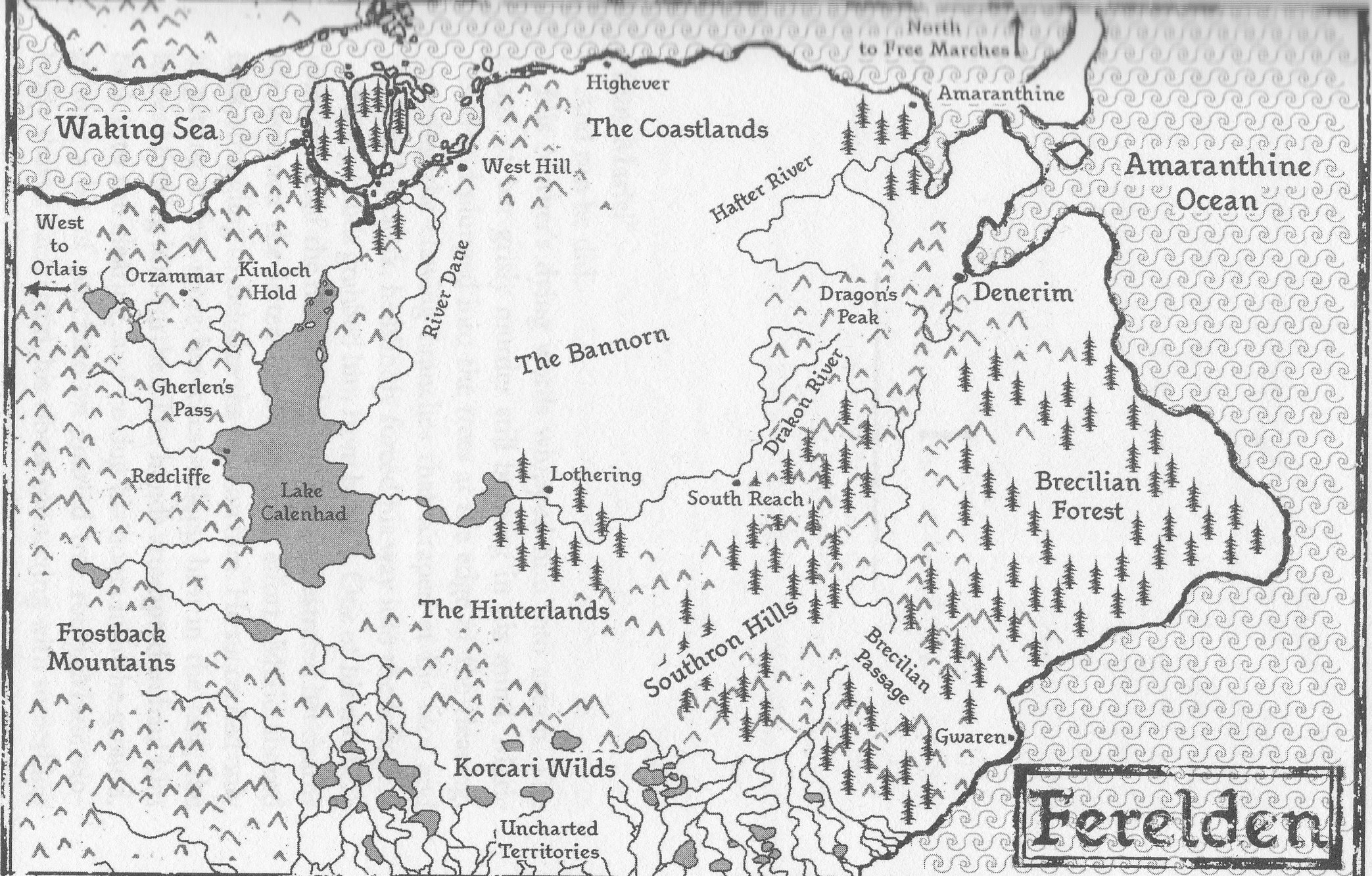 Image   Ferelden Map 1. | Dragon Age Wiki | FANDOM powered by Wikia