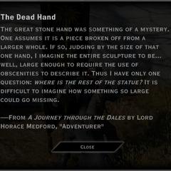 The Dead Hand Landmark Text