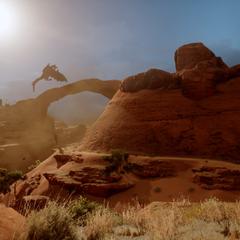 Der Abyssische Hochdrache über dem Canyon