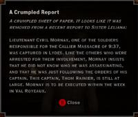 Revelations - A Crumpled Report