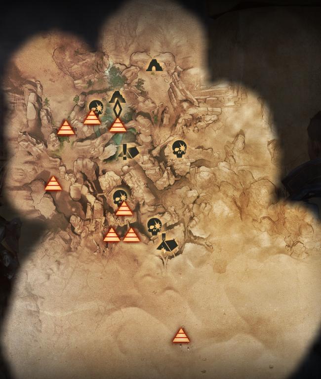 Sehenswürdigkeiten in der Oase - Karte