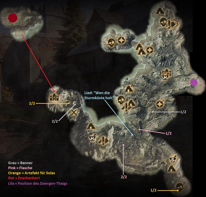 Die Sturmküste - Karte