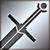 Большой меч серебряный
