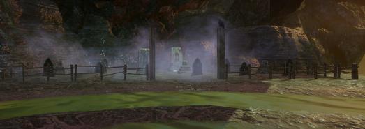 Глубокая тень кладбище