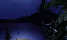Пристань на озере Каленхад