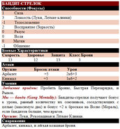 Бандит-стрелок таблица