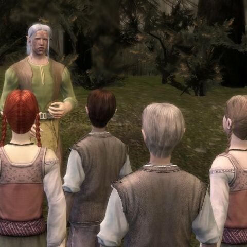 Paivel teaches the children about Elven history