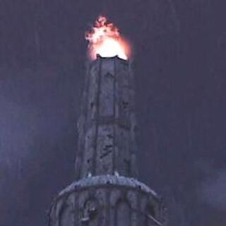 The Tower of Ishal with the beacon lit