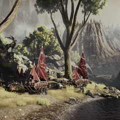 A dalish camp in the exalted plains