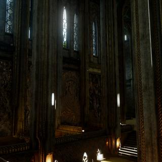 Innenansicht des Heiligtums