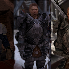 Alistair: Drunk, Grey Warden, and King respectively, <i><a href=