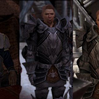 Alistair: Drunk, Grey Warden, and King respectively,
