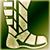 Средние сапоги (зеленые)