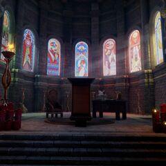 Kirchenfenster erzählen Andrastes Geschichte