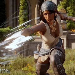 Promotional image of Isabela for the <i>Dragonslayer</i> expansion
