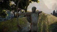 Elven archer statue