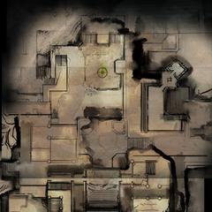 Karte des unteren Geschosses der Festung