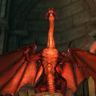 A dragon thrall at the ready.
