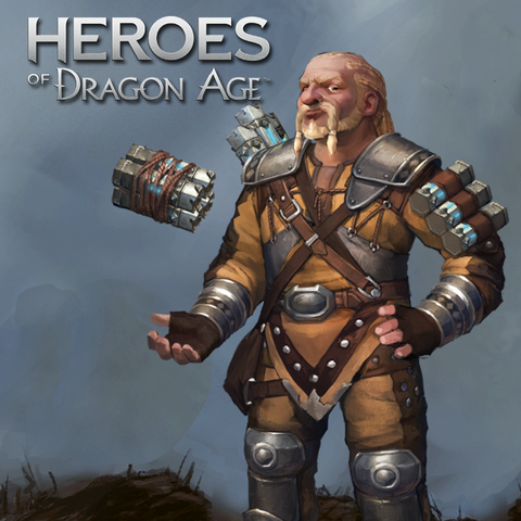 Promotional image of Dworkin in <i>Heroes of Dragon Age</i>