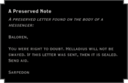 A Preserved Note