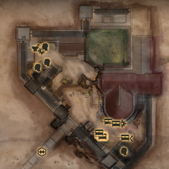 Skyhold Lower Courtyard Map