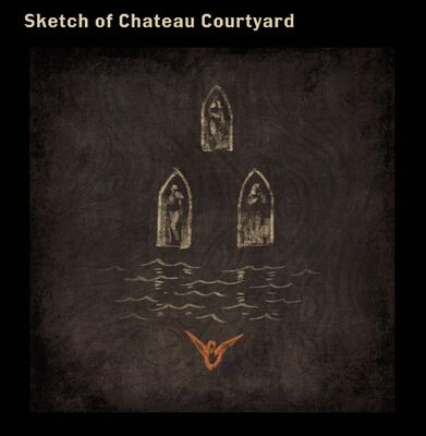 Sketch of Chateau Courtyard