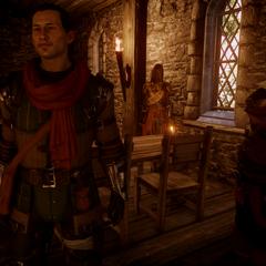 Sutherland mit all seinen Begleitern in der Taverne in der <a href=