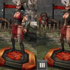 Tier progression of Yavana in <i>Heroes of Dragon Age</i>