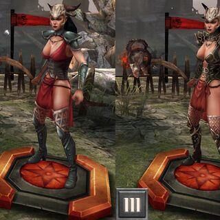 Tier progression of Yavana in <i>Heroes of Dragon Age</i>