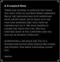 A Crumpled Note