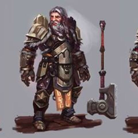 Concept art of tier progression of King Endrin Aeducan in <i>Heroes of Dragon Age</i>