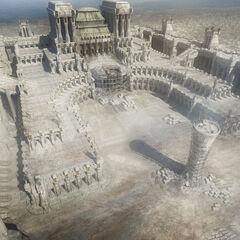 Die Kathedrale nach dem Angriff der Verschwörer