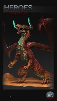 Глубинная высшая драконица HoDA концепт