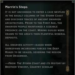 Morrin's Steps Landmark Text