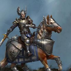 Artwork of Grey Warden Cavalry from Heroes of Dragon Age.