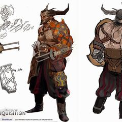 Iron Bull with a blade prosthetic on his arm