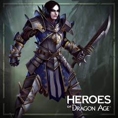 Artwork of Warden-Commander Sophia Dryden in <i>Heroes of Dragon Age</i>