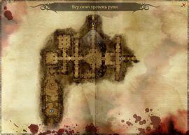 Карта верхнего уровня руин