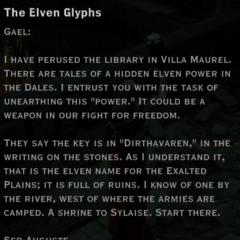 The Elven Glyphs; to Gael, from Auguste