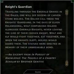 Knight's Guardian Landmark Text