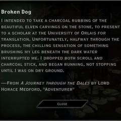 Broken Dog Landmark Text