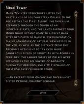 Ritual Tower Landmark Text