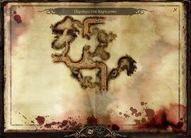Карта перекрёстка Каридина